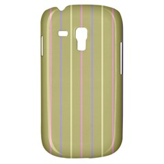 Summer Sand Color Lilac Pink Yellow Stripes Pattern Samsung Galaxy S3 Mini I8190 Hardshell Case by picsaspassion