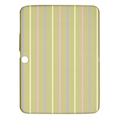 Summer Sand Color Lilac Pink Yellow Stripes Pattern Samsung Galaxy Tab 3 (10 1 ) P5200 Hardshell Case  by picsaspassion