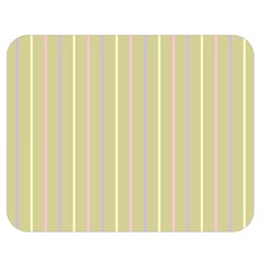 Summer Sand Color Lilac Pink Yellow Stripes Pattern Double Sided Flano Blanket (medium)  by picsaspassion