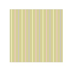Summer Sand Color Lilac Pink Yellow Stripes Pattern Small Satin Scarf (square) by picsaspassion