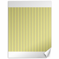 Summer Sand Color Yellow Stripes Pattern Canvas 36  X 48