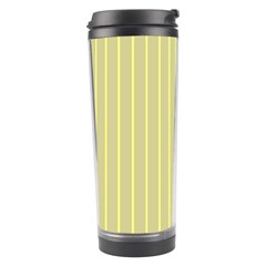 Summer Sand Color Yellow Stripes Pattern Travel Tumbler by picsaspassion