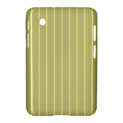 Summer Sand Color Yellow Stripes Pattern Samsung Galaxy Tab 2 (7 ) P3100 Hardshell Case  by picsaspassion