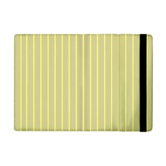 Summer Sand Color Yellow Stripes Pattern Ipad Mini 2 Flip Cases by picsaspassion