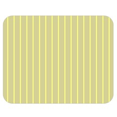 Summer Sand Color Yellow Stripes Pattern Double Sided Flano Blanket (medium)  by picsaspassion
