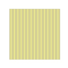 Summer Sand Color Yellow Stripes Pattern Small Satin Scarf (square) by picsaspassion