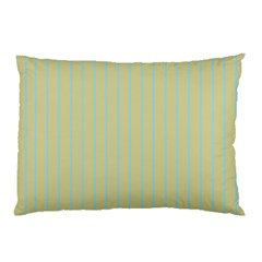 Summer Sand Color Blue Stripes Pattern Pillow Case (two Sides)