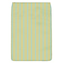 Summer Sand Color Blue Stripes Pattern Flap Covers (l)  by picsaspassion