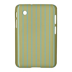 Summer Sand Color Blue Stripes Pattern Samsung Galaxy Tab 2 (7 ) P3100 Hardshell Case  by picsaspassion
