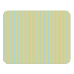 Summer Sand Color Blue Stripes Pattern Double Sided Flano Blanket (large)  by picsaspassion