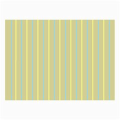 Summer Sand Color Blue And Yellow Stripes Pattern Collage Prints by picsaspassion