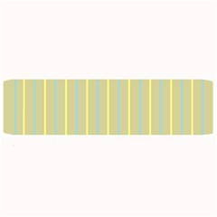 Summer Sand Color Blue And Yellow Stripes Pattern Large Bar Mats by picsaspassion