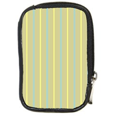 Summer Sand Color Blue And Yellow Stripes Pattern Compact Camera Cases by picsaspassion