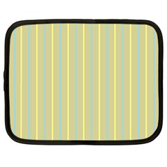 Summer Sand Color Blue And Yellow Stripes Pattern Netbook Case (xl)