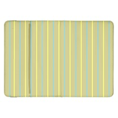 Summer Sand Color Blue And Yellow Stripes Pattern Samsung Galaxy Tab 8 9  P7300 Flip Case by picsaspassion