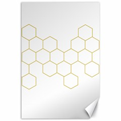 Honeycomb Pattern Graphic Design Canvas 24  X 36  by picsaspassion