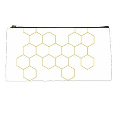 Honeycomb Pattern Graphic Design Pencil Case by picsaspassion