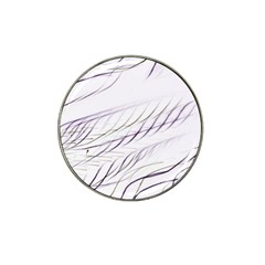 Lilac Stripes Hat Clip Ball Marker (4 Pack)