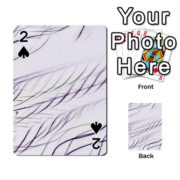Lilac stripes Playing Cards 54 Designs