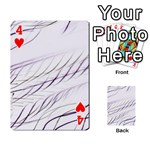 Lilac stripes Playing Cards 54 Designs  Front - Heart4