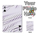 Lilac stripes Playing Cards 54 Designs  Front - Spade4