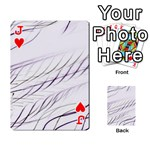 Lilac stripes Playing Cards 54 Designs  Front - HeartJ