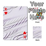 Lilac stripes Playing Cards 54 Designs  Front - HeartK