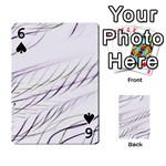 Lilac stripes Playing Cards 54 Designs  Front - Spade6