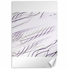 Lilac Stripes Canvas 12  X 18   by picsaspassion