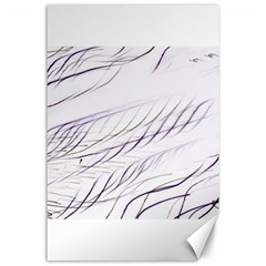 Lilac Stripes Canvas 24  X 36  by picsaspassion