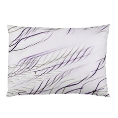 Lilac Stripes Pillow Case (two Sides) by picsaspassion