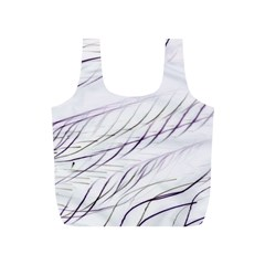 Lilac Stripes Full Print Recycle Bags (s)