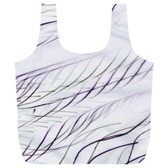 Lilac Stripes Full Print Recycle Bags (l)  by picsaspassion