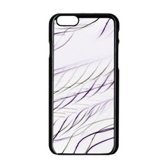 Lilac Stripes Apple Iphone 6/6s Black Enamel Case by picsaspassion