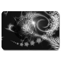 Silver Feather And Ball Decoration Large Doormat  by picsaspassion