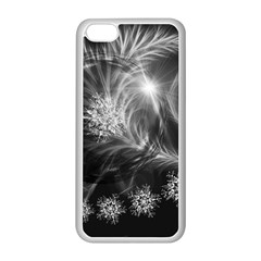 Silver Feather And Ball Decoration Apple Iphone 5c Seamless Case (white) by picsaspassion