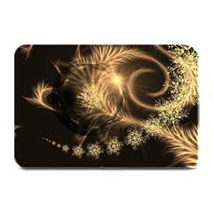 Golden Feather And Ball Decoration Plate Mats by picsaspassion