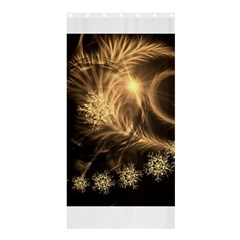 Golden Feather And Ball Decoration Shower Curtain 36  X 72  (stall)