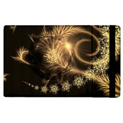 Golden Feather And Ball Decoration Apple Ipad 2 Flip Case by picsaspassion
