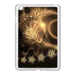Golden Feather And Ball Decoration Apple Ipad Mini Case (white) by picsaspassion