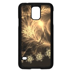 Golden Feather And Ball Decoration Samsung Galaxy S5 Case (black) by picsaspassion