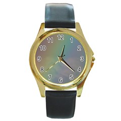 Between The Rainbow Round Gold Metal Watch by picsaspassion
