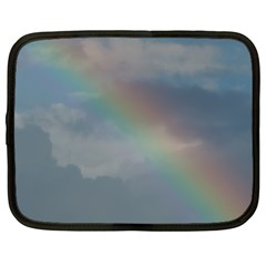 Rainbow In The Sky Netbook Case (large) by picsaspassion