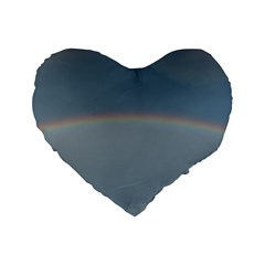 Colorful Rainbow Standard 16  Premium Heart Shape Cushions