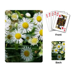 White Summer Flowers, Watercolor Painting Playing Card
