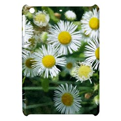 White Summer Flowers, Watercolor Painting Apple Ipad Mini Hardshell Case by picsaspassion