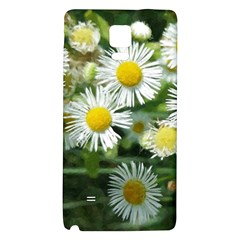 White Summer Flowers, Watercolor Painting Galaxy Note 4 Back Case