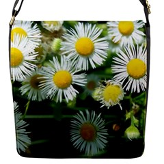 White Summer Flowers Oil Painting Art Flap Messenger Bag (s)