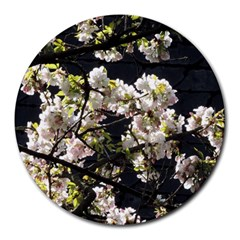 Japanese Cherry Blossom Round Mousepads by picsaspassion