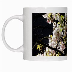 Japanese Cherry Blossom White Mugs by picsaspassion